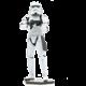 Stavebnice ICONX Star Wars - Stormtrooper, kovová