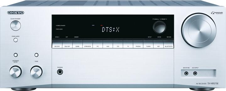 Onkyo TX-NR575E, stříbrná