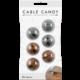 Cable Candy kabelový organizér Beans, 6 ks, šedá a hnědá