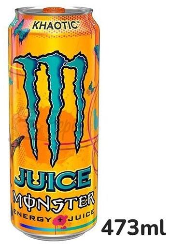 Monster Khaotic, energetický, tropické ovoce, 473ml
