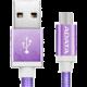 ADATA Micro USB kabel pletený, 1m, fialový