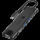 CONNECT IT Multi5in1 USB-C hub, 5v1 (USB-C,2xUSB-A,HDMI,RJ45),externí, černá