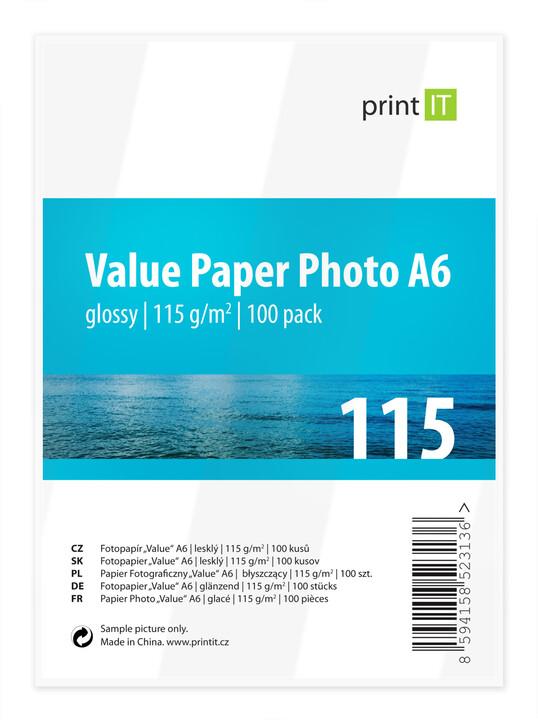 PRINT IT Value Paper Photo A6 115 g/m2 Glossy 100ks