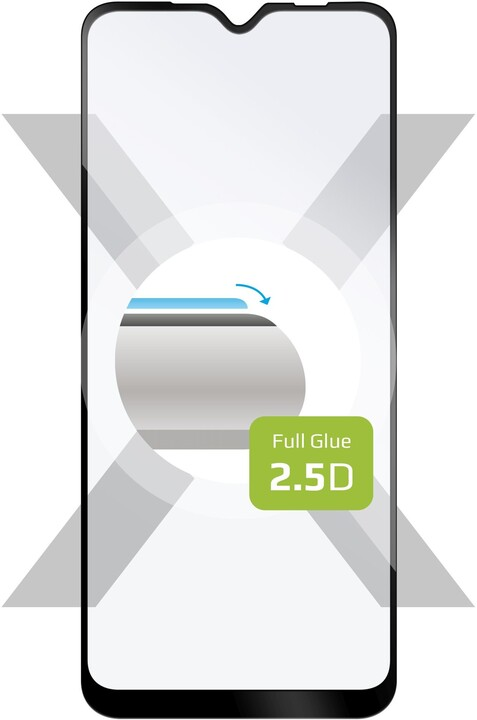 FIXED Ochranné tvrzené sklo Full-Cover pro Vivo Y11s/Y20s, lepení přes celý displej, černá