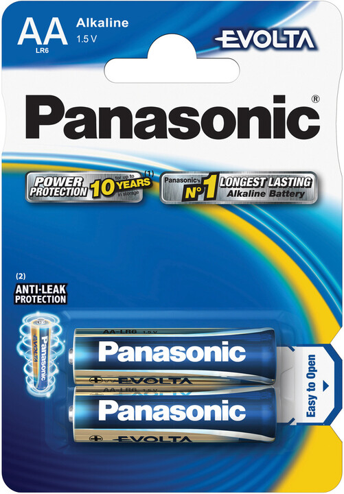 Panasonic baterie LR6 2BP AA Evolta alk