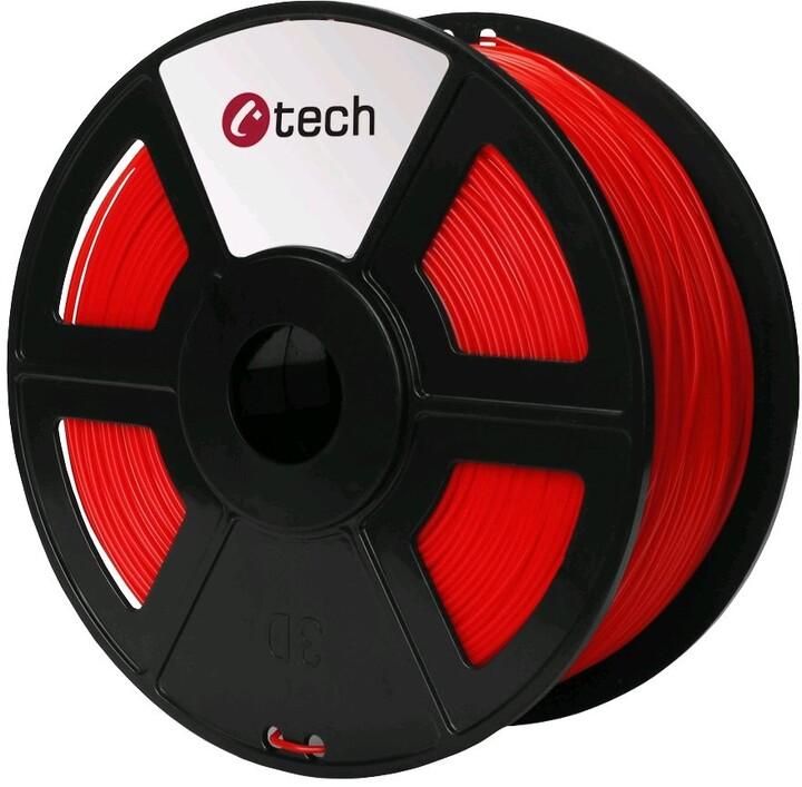 C-TECH tisková struna (filament), ASA, 1,75mm, 1kg, červená