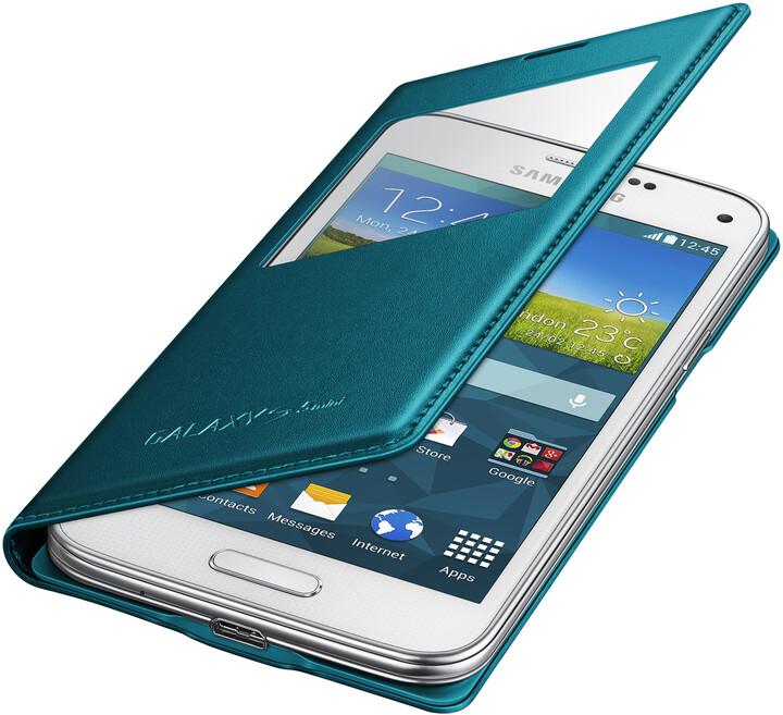 Samsung flipové pouzdro s oknem EF-CG800B pro Galaxy S5 mini, zelená