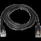 Virtuos kabel RJ12, 24V, pro zásuvku a tiskárnu, 1,1 m, černá