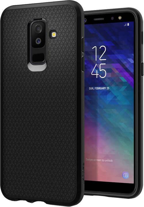 Spigen Liquid Air - Galaxy A6+, black