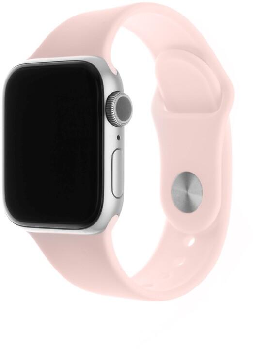 FIXED silikonový řemínek pro Apple Watch, 42/44mm, růžová