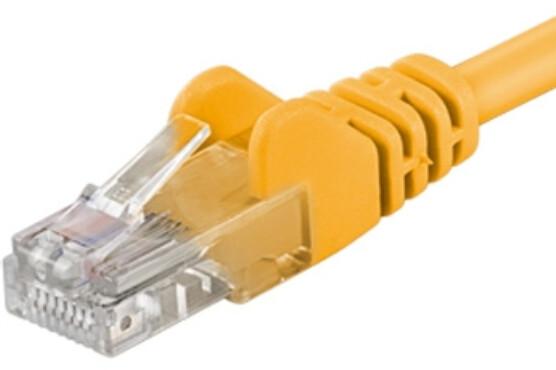 PremiumCord Patch kabel UTP RJ45-RJ45 level 5e, 1m, žlutá