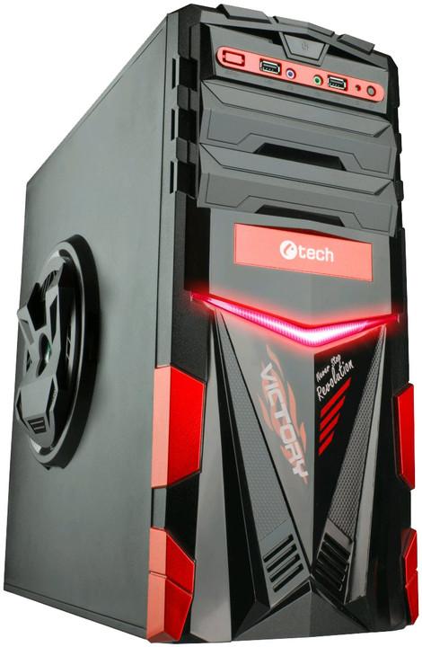 C-TECH ARES, černá/červená