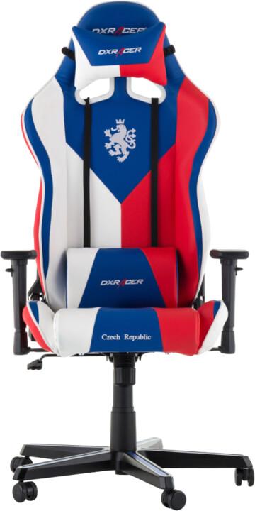 DXRacer Racing OH/RZ57/IWR, Czech Republic Edition, modrá/bílá/červená
