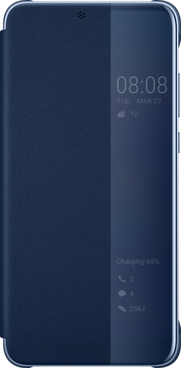 Huawei Original S-View Cover Pouzdro pro P20, modrá