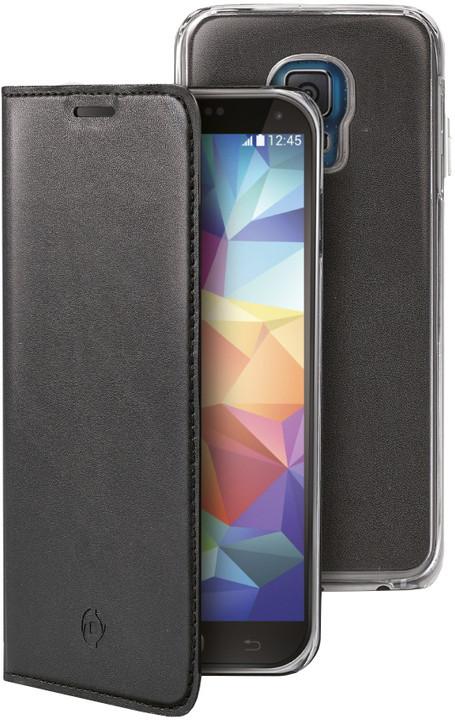 CELLY Buddy pouzdro pro Samsung Galaxy S5 / S5 Neo, PU kůže, černá