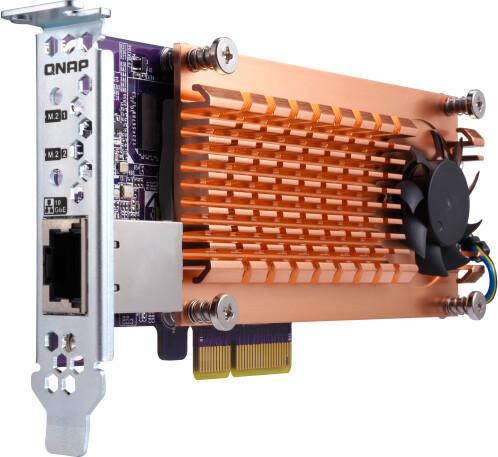 QNAP QM2-2S10G1TA - Duální SSD M.2 2280 pro rozhraní SATA a jednoportová 10GbE