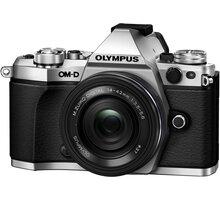 Olympus E-M5 Mark II + 14-42 EZ, stříbrná/černá - V207044SE000