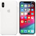 Apple silikonový kryt na iPhone XS Max, bílá