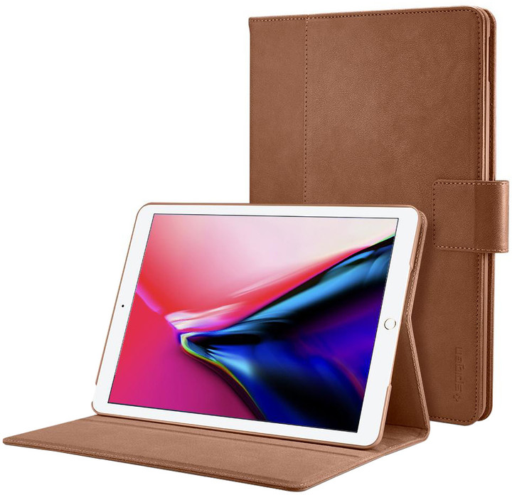 Spigen Stand Folio case, brown - iPad 9.7""