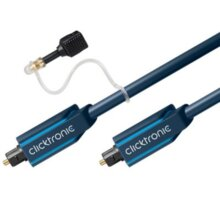 ClickTronic HQ Optický kabel Toslink TOS male - TOS male, s redukcí na 3.5mm, 15m - CLICK70374