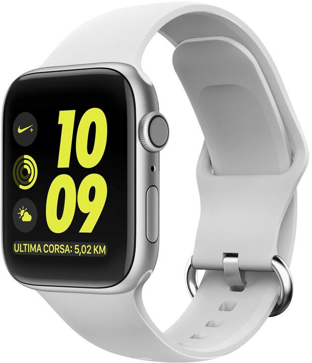 MAX silikonový řemínek MAS09 pro Apple Watch, 38/40mm, bílá