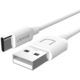 USAMS SJ099 datový kabel Type C U (EU Blister), bílá