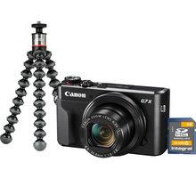 Canon PowerShot G7 X Mark II, Vlogger Kit, černá - 1066C037 + Trenýrky se vzorem - velikost L v hodnotě 259 Kč