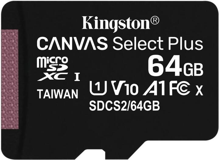 Kingston Micro SDXC Canvas Select Plus 100R 64GB 100MB/s UHS-I