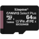 Kingston Micro SDXC Canvas Select Plus 100R 64GB 100MB/s UHS-I