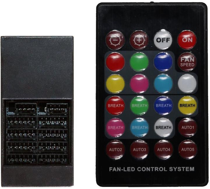 Evolveo C2, RGB FAN řadič pro ventilátor 12R1 + dálkové ovládání