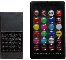 Evolveo C2, RGB FAN řadič pro ventilátor 12R1, 12V + dálkové ovládání - rgb-contr-c2