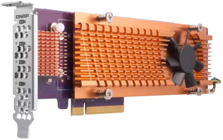 QNAP QM2-4P-384A - Quad rozšiřující karta pro disky SSD M.2 2280 PCIe, (Gen3 x8)