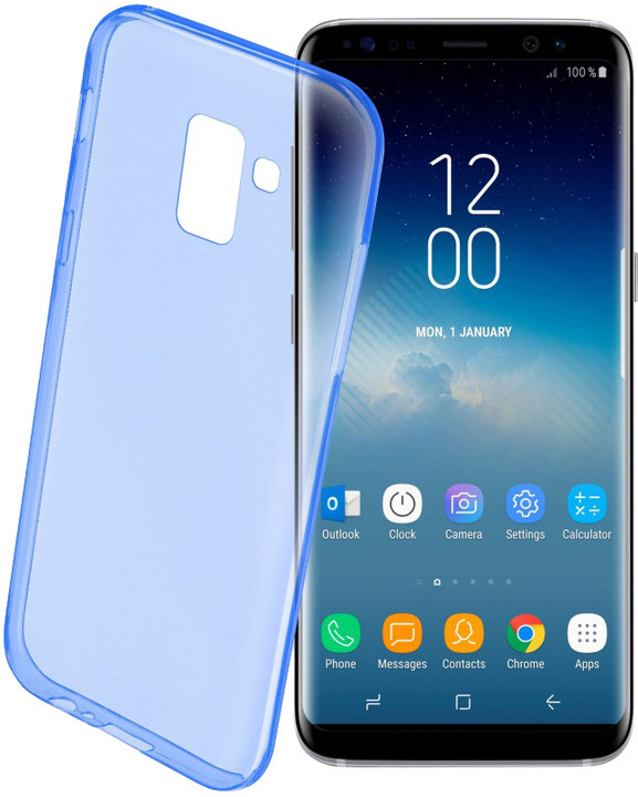 CellularLine barevné gelové pouzdro COLOR pro Samsung Galaxy S9, modré