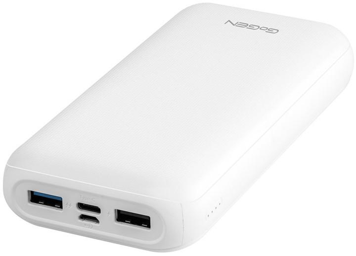 GoGEN powerbanka 20000 mAh, USB-C, PD, bílá