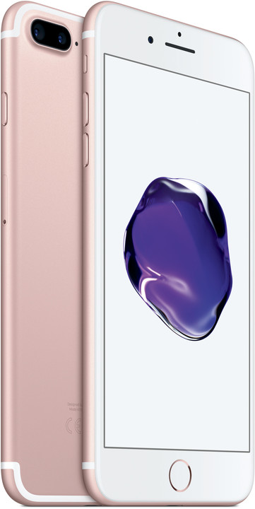 Apple iPhone 7 Plus, 128GB, růžová/zlatá