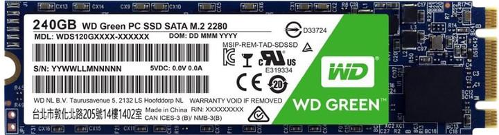 WD SSD Green 3D NAND, M2 2280 - 240GB