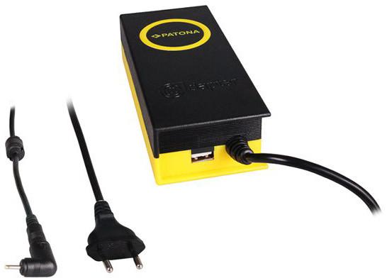 Patona napájecí adaptér k ntb/ 19V/4,7A 90W/ konektor 2,5x0,7mm/ + výstup USB
