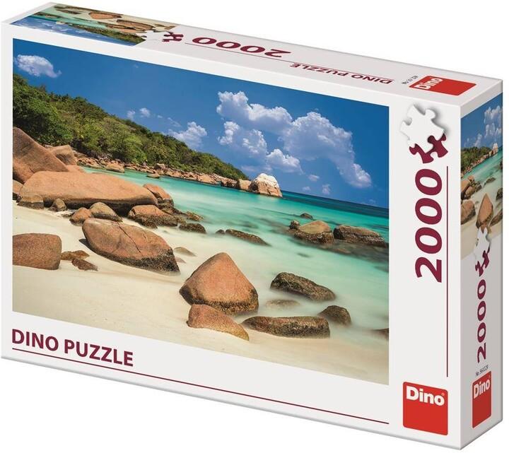Puzzle Dino Pláž, 2000 dílků
