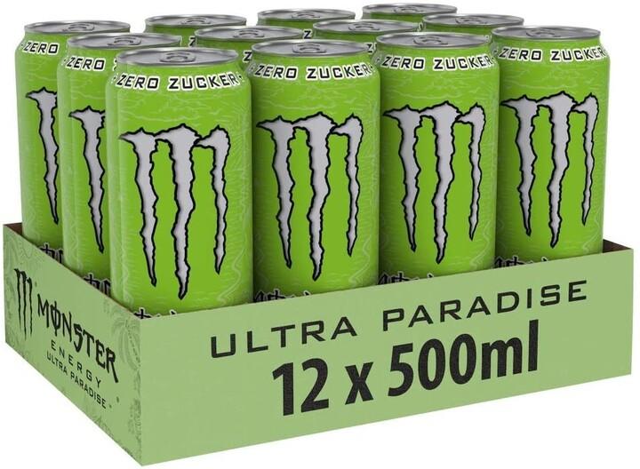 Monster Ultra Paradise, energetický, 500 ml, 12ks