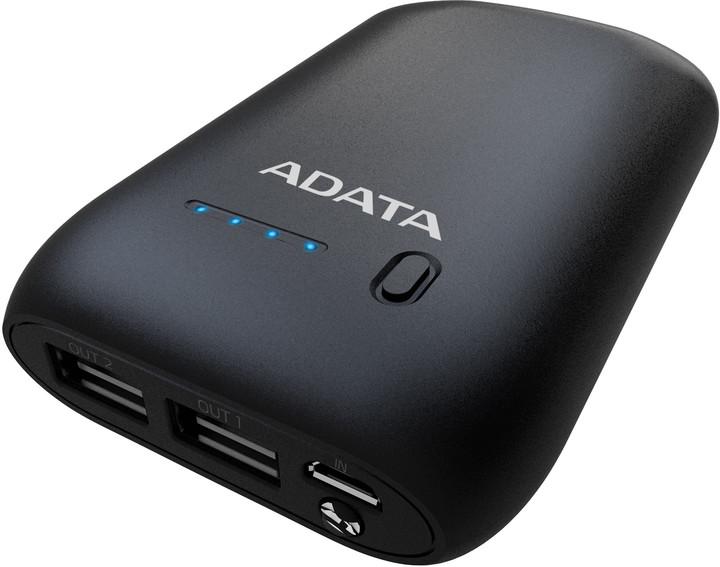 ADATA P10050 Power Bank 10050mAh, černá