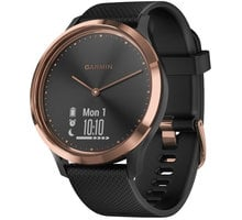 Garmin Vívomove Optic Sport Rose Gold Black (velikost S/M) 010-01850-26