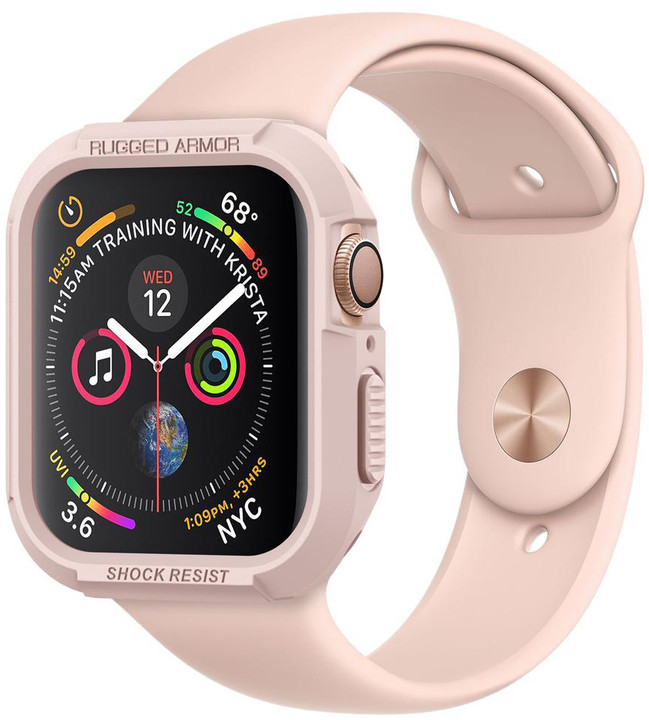 Spigen Rugged Armor Apple Watch 4 40mm, růžovo/zlatá