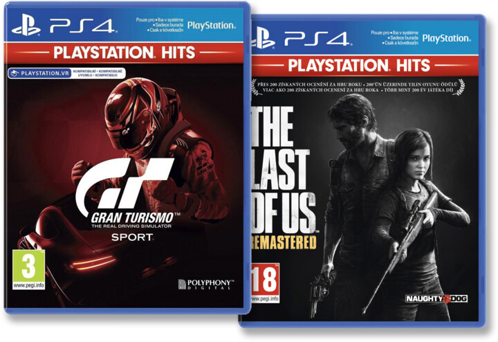 PS4 HITS - Gran Turismo Sport + The Last of Us: Remastered