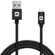 MAX MUC2200B kabel micro USB 2.0 opletený, 2m, černá