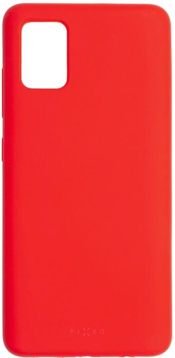 FIXED silikonový kryt Flow pro Samsung Galaxy A51, červená
