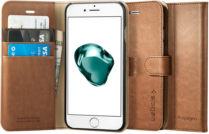 Spigen Wallet S pro iPhone 7 Plus, brown
