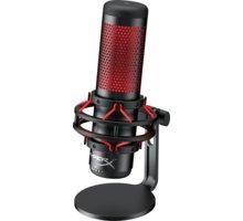 HyperX Quadcast, herní, černý/červený - HX-MICQC-BK