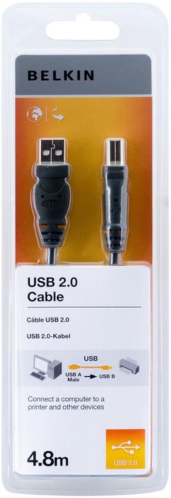 Belkin USB 2.0 kabel A-B, řada standard, 4.8 m
