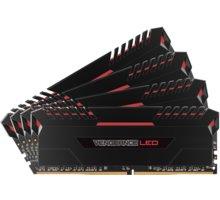 Corsair Vengeance LED Red 32GB (4x8GB) DDR4 2666 CL 16 CMU32GX4M4A2666C16R
