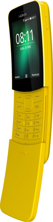 Nokia 8110 4G, Single Sim, žlutá